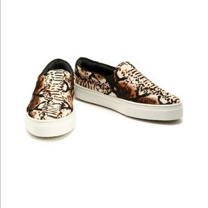 Schutz animal print slip on loafer sneaker
